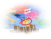 Aid to Greece Royalty Free Stock Image