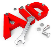 Aid Word Indicates Volunteer Charity And Assistance Royalty Free Stock Photo