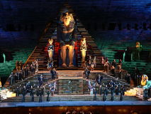 Aida at arena, Verona (Italia ) Stock Photo