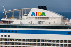 AIDA cruise line funnel Royalty Free Stock Photography