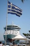 AIDA Cruise Shipin Greece Royalty Free Stock Photography