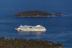 AIDA Dive Cruise Ship in Bar Harbor, USA, 2015 Royalty Free Stock Photo
