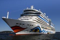 AIDA Dive Cruise Ship dans le port de barre, Etats-Unis, 2015 Photographie stock