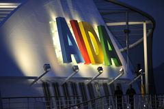AIDA Lettering Stock Photo