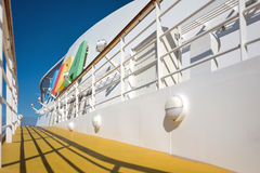 AIDA logo at the funnel of cruise ship AIDAsol Stock Images