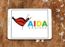 AIDA Pływa statkiem loga Fotografia Royalty Free