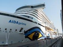 The AIDA Prima cruise ship Stock Photos