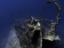 Aida's wreck. In the red sea Stock Images