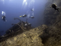 Aida's wreck. In the red sea Stock Photo