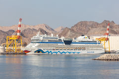 AIDA Stella cruise liner in Muscat, Oman Royalty Free Stock Photography