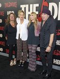 Aida Turturro, Edie Falco, Maureen Van Zandt, et Steven Van Zandt Photos libres de droits