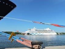 AIDA vita Cruise ship. In Klaipeda harbour, Lithuania Royalty Free Stock Photos