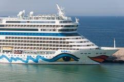 AIDAblu cruise ship Stock Photography