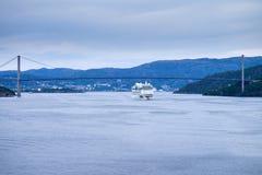 AIDAluna opuszcza Bergen, Norwegia Fotografia Stock