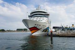 AIDAmar at berth Warnemunde Royalty Free Stock Photos