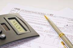 Aide avec des impôts Image libre de droits