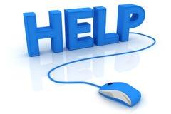 Aide avec la souris d'ordinateur Photo stock
