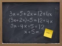 Aide avec le concept de maths image libre de droits