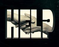 aide Concept avec le lettrage Photo libre de droits