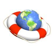 Aide dans la récession globale Image stock