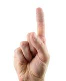 Aide de bande sur un doigt Photographie stock libre de droits