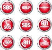 Aide de bouton Photo stock