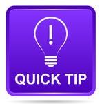 Aide de bouton d'astuce rapide et concept pourpres de suggestion illustration libre de droits