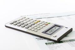 Aide de dette Photographie stock libre de droits