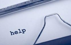 Aide de machine à écrire photographie stock libre de droits