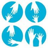 Aide de mains - positionnement de graphisme Photos stock