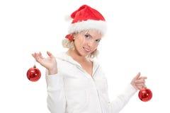 Aide de Noël de Santa photo libre de droits