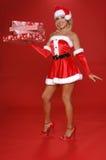Aide de Noël de Santa images libres de droits