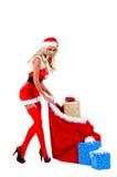 Aide de Noël de Santa Photographie stock libre de droits