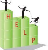 Aide de personnes illustration de vecteur