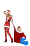 Aide de Santa de Noël Photos libres de droits