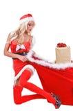 Aide de Santa de Noël Image stock