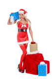 Aide de Santa de Noël Images stock