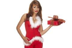 Aide de Santa sur le fond blanc image libre de droits