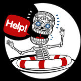Aide de squelettes Images stock