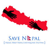 Aide du tremblement de terre 2015 du Népal Photo stock
