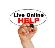 Aide en ligne vivante Images stock
