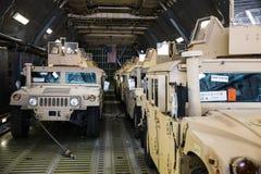Aide militaire des USA vers l'Ukraine Photo stock