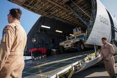 Aide militaire des USA vers l'Ukraine Photos stock