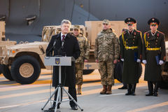 Aide militaire vers l'Ukraine Photo stock