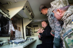 Aide militaire vers l'Ukraine Photographie stock