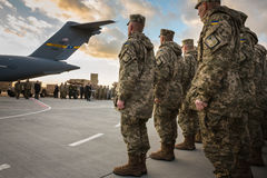 Aide militaire vers l'Ukraine Photos stock