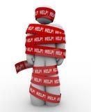 Aide Person Wrapped dans la délivrance de service des besoins Image libre de droits
