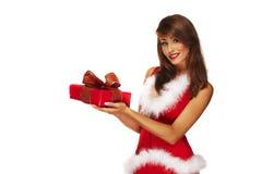 Aide sexy de Santa Photo libre de droits