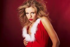 Aide sexy de Santa Images libres de droits