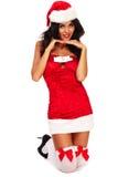 Aide sexy de Santa Images stock